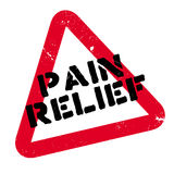 Pain Relief rubber stamp Stock Image