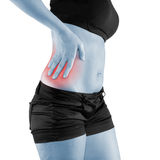 Pain in the right side of the body. Royalty Free Stock Photo