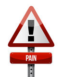 Pain road sign illustrations design Stock Photos