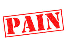 PAIN Rubber Stamp. PAIN red Rubber Stamp over a white background Stock Photos