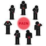 Pain scale  graphic style educational poster. Great quality work. On this picture you can see some high quality and resolution  graphic creative ideas concept Stock Photos