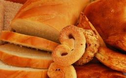 Pain, secteurs et biscuits Image stock