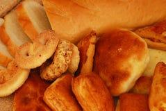 Pain, secteurs et biscuits Photos libres de droits