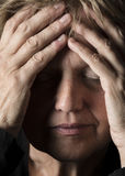 Pain - senior woman Stock Image