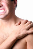Pain In The Shoulder Royalty Free Stock Images