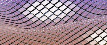 Pain?is solares em um telhado ilustração do vetor