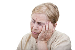 Toothache old woman Stock Image