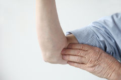 Pain in upper arm Royalty Free Stock Photo
