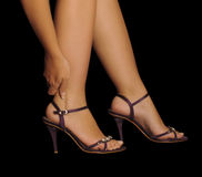 Pain from wearing heels Stock Image