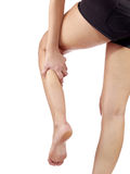 Pain in woman hamstring Stock Photo
