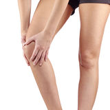 Pain in woman knee. Stock Images