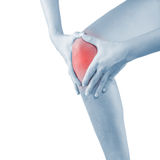 Pain in woman knee. Stock Image