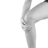 Pain in woman knee. Stock Photography