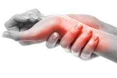 Pain in wrist Stock Photography