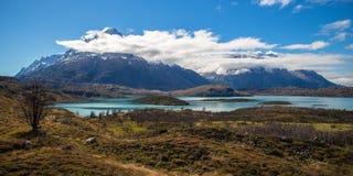 Paine grand en Torres del Paine, Patagonia Images libres de droits