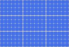 Painel altamente detalhado do teste padrão da célula solar rendição 3d Fotografia de Stock Royalty Free