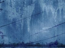 Painel azul de Grunge Fotos de Stock Royalty Free