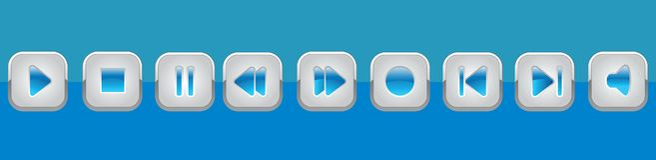 Painel azul dos multimédios Imagem de Stock