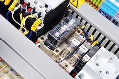 Painel com equipamento elétrico Fotos de Stock Royalty Free