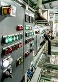 Painel controle de processos na fábrica 1 Imagem de Stock Royalty Free