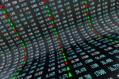 Painel da bolsa de valores de Digitas Fotografia de Stock