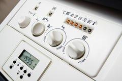 Painel da caldeira de aquecimento central Imagens de Stock