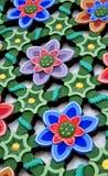 Painel da estrutura da flor Fotografia de Stock Royalty Free