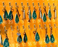 Painel das chaves imagem de stock