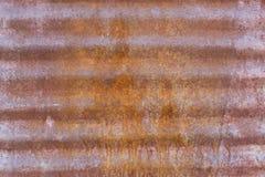 Painel de aço ondulado oxidado Fotografia de Stock