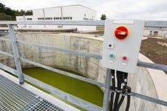 Painel de comando da planta de tratamento da água Fotografia de Stock Royalty Free