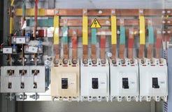 Painel de comando elétrico Fotografia de Stock