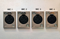 Painel de conector do microfone Imagens de Stock