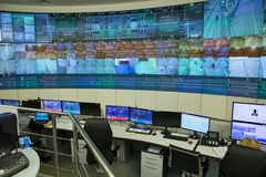 Painel de controle central um túnel do automóvel Imagem de Stock Royalty Free
