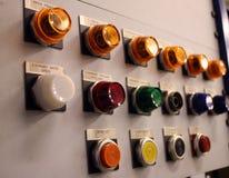 Painel de controle colorido fotografia de stock