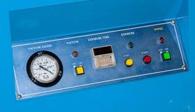 Painel de controle da máquina. Imagem de Stock Royalty Free
