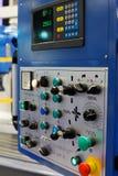 Painel de controle da máquina de trituração do CNC foto de stock