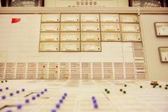 Painel de controle da sala dos engireers do central nuclear de Zwentendorf Imagens de Stock Royalty Free