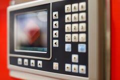 Painel de controle do equipamento assistido por computador Fotos de Stock