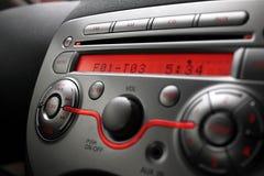 Painel de controle do jogador do áudio do carro imagem de stock royalty free
