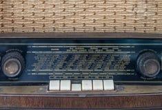 Painel de controle do receptor de rádio análogo clássico velho Fotografia de Stock