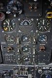 Painel de controle dos coordenadores dos aviões de bombardeiro Fotografia de Stock Royalty Free