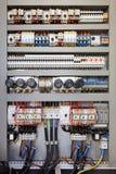 Painel de controle elétrico fotografia de stock royalty free
