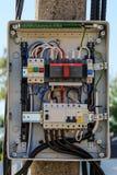 Painel de controle elétrico Imagem de Stock Royalty Free