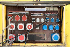 Painel de controle elétrico Fotografia de Stock