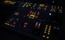 Painel de controle iluminado do navio foto de stock royalty free