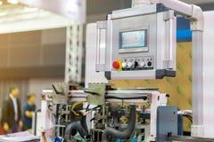 Painel de controle de moderno e de alta tecnologia da publicação ou da máquina de impressão automática fotos de stock royalty free