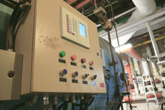 Painel de controle para controlar a caldeira Imagem de Stock