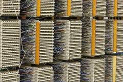Painel de distribuição do cabo da central imagem de stock
