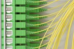 Painel de fibra ótica do quadro de distribuição de uma comunicação foto de stock royalty free
