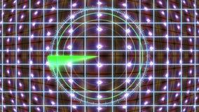 Painel de HUD com uma grade do radar e um fundo movente Gráficos do movimento ilustração do vetor